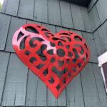 Powder Coated Metal Heart